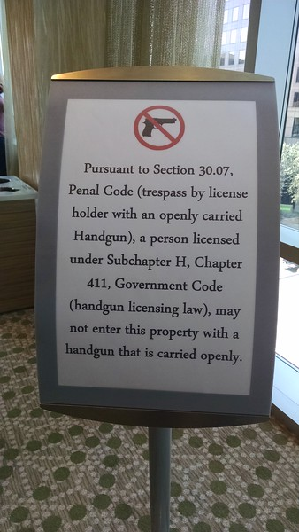 You just don't see this signage at conferences in New England ...