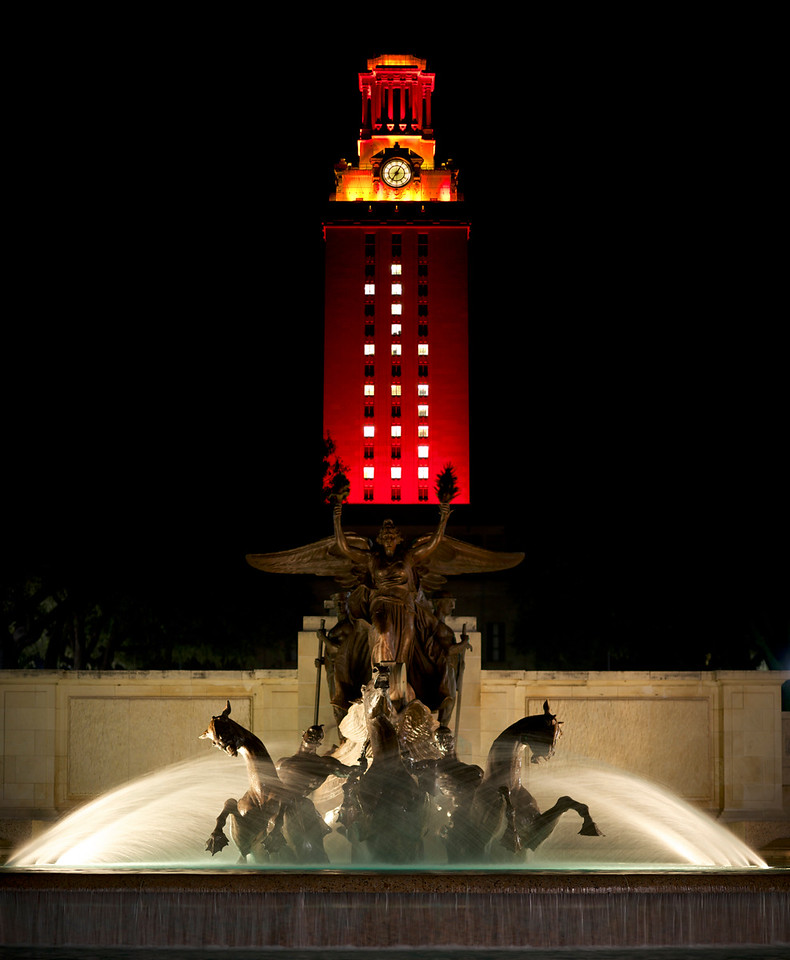 University of Texas Tower<br /> at Graduation 2013