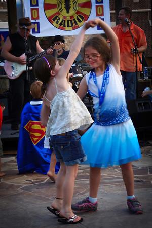 Friends love to dance.