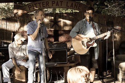 June 9, 2013 Brad Higdon singing with Randy Robertson.