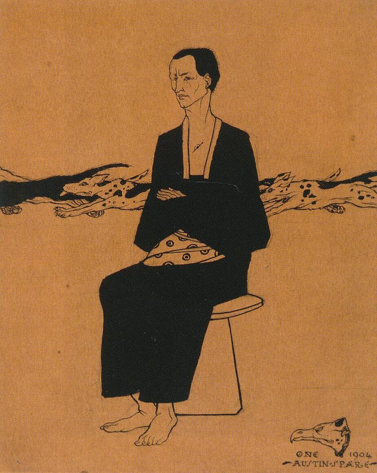 Seated Japanese Man
