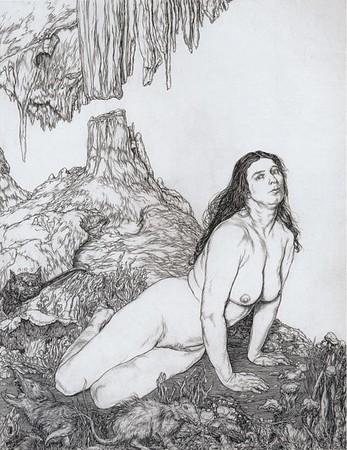 Nude in Fantastic Landscape