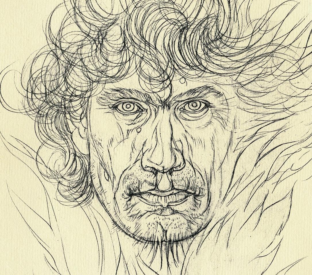 Detail: self-portrait