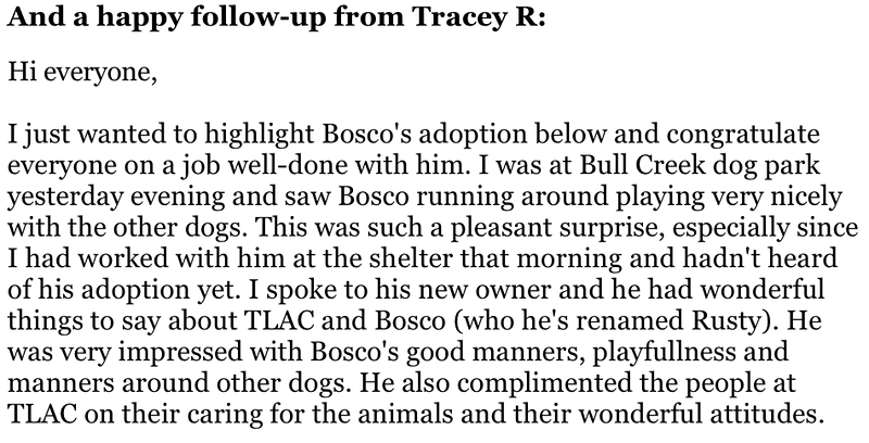 Bosco's adoption follow-up part 1