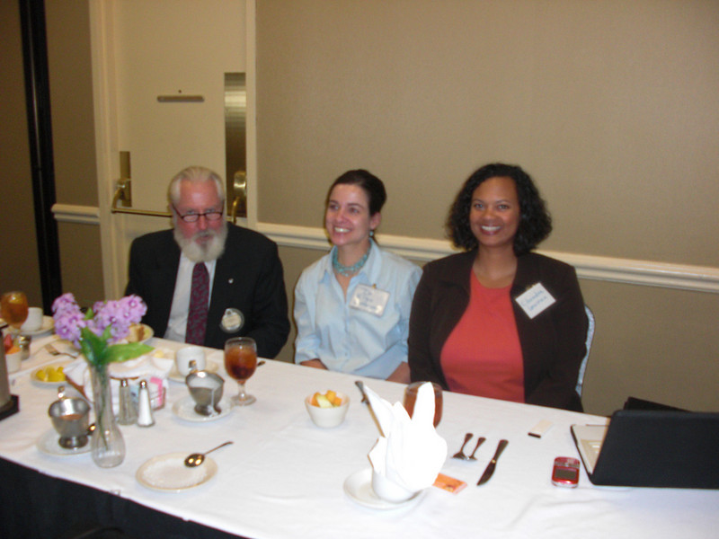 Dr. Jefferson of Austin Pets Alive, and our host, Dr. Naumann, and volunteer, Chandra.