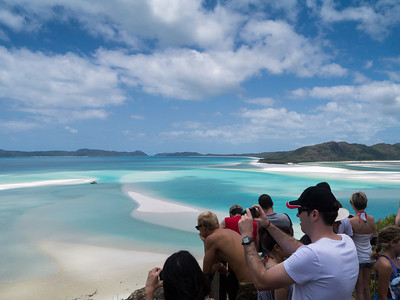 Over looking the North of Whitehaven Beach