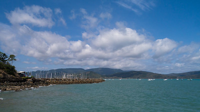 Looking towards the Airlie Beach marina