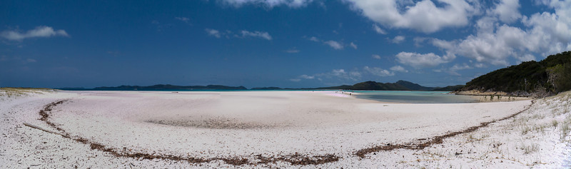 Panorama on the North end of Whitehaven Beach