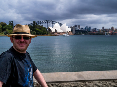 Jonty in front of the Sydney Opera House