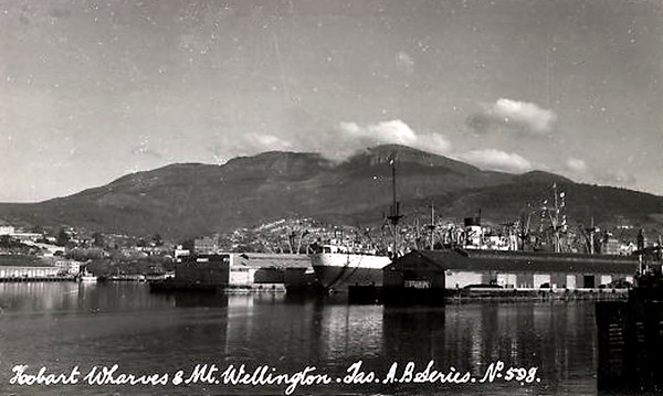 Hobart Wharves and Mount Wellington