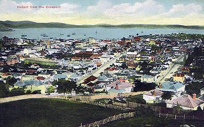 Hobart from the Crescent