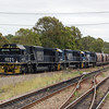 Pacific National 9021 heads a loaded coal train through Thornton in the Hunter Valley near Newcastle, New South Wales on the 28th December 2010.