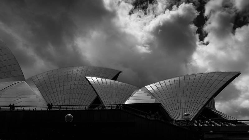 Sydney Opera House b&w