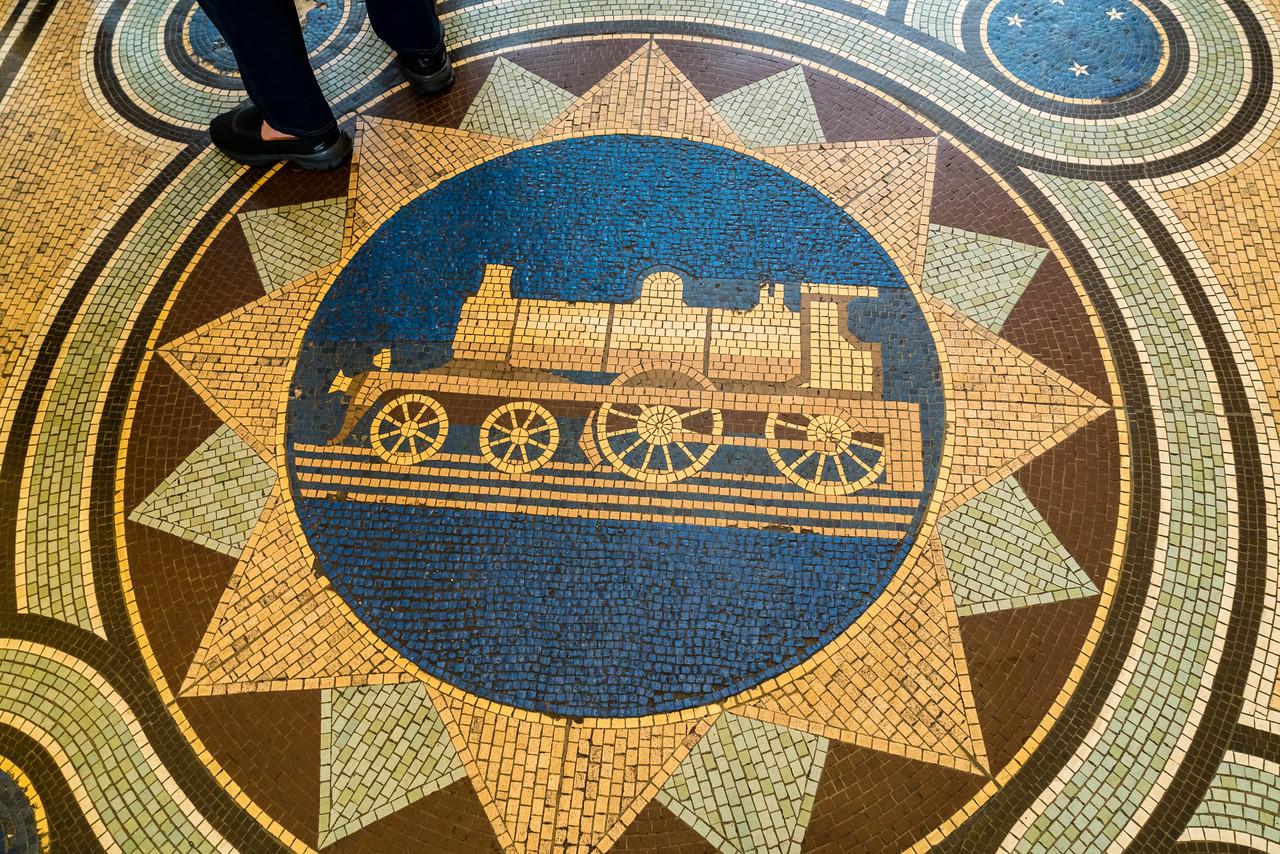 Locomotive Floor Mosaic