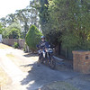 Me outside Peters place on F800GS - heading for Dargo.