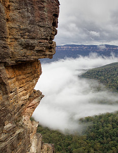 COVER: The Blue Mountains National Park and World Heritage Site in Australia, viewed from The Three Sisters
