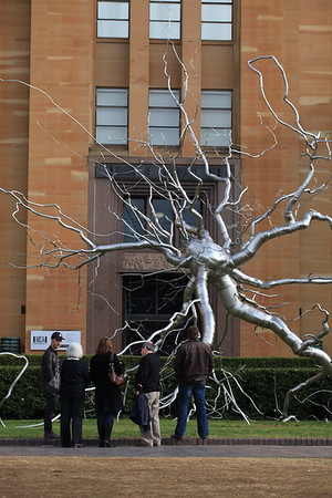 Museum of Contemporary Art with metal tree