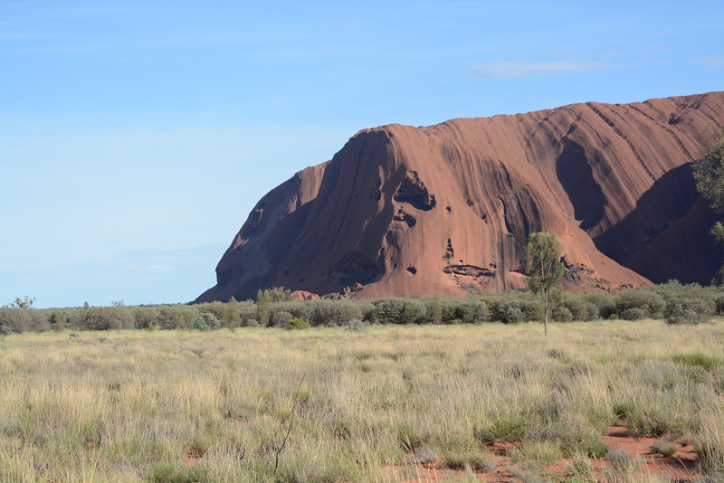 The left view of Uluru.  If you look closely, and have some imagination you might be able to see a lions head on the extreme left side.