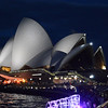 The opera house is even more spectacular by night.