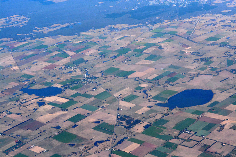 Some farm land from 19,000 ft.