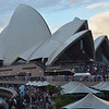 After a plane ride we arrived in Sydney.  Our first sight of the Opera House.