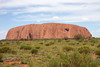 A last look at Uluru (Ayers Rock) as we leave. You can see that the rock is less interesting in the mid-day sun.