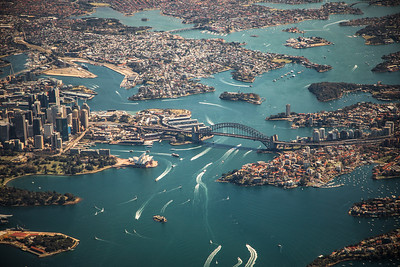 Sydney from helicopter