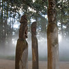 Statues in the mist