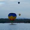 Balloon taking a dip