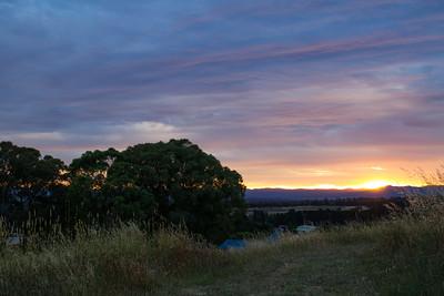 Sunset over Nicholls, Canberra