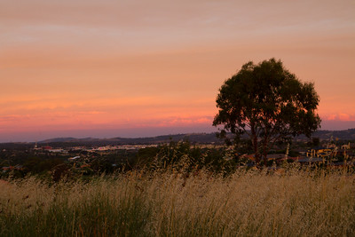 Evening glow over Canberra