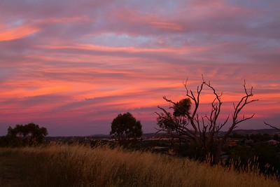Stunning sunset over Canberra