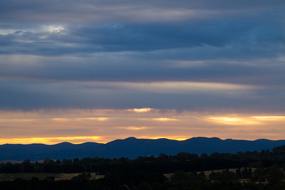 Sunset over Brindabella Mountains, Canberra