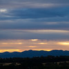Sunset over Brindabella Mountains, Canberra