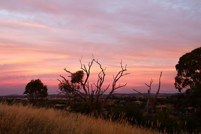 Spectacular sunset over Canberra