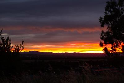 Sunset over Canberra