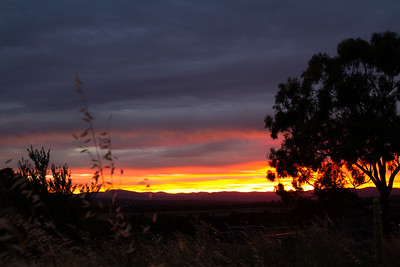 Beautiful sunset over Canberra