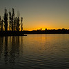Setting sun on Lake Ginninderra, Canberra