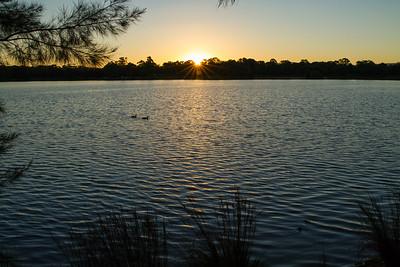 Sunset on Lake Ginninderra Lake, Canberra