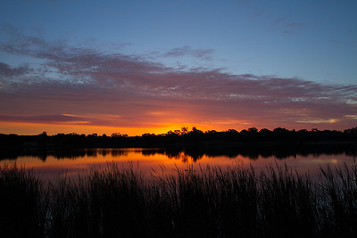 Sunset over Lake Ginninderr, Canberra