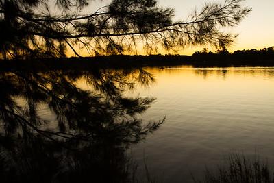 Sunset glow on Lake Ginninderra, Canberra