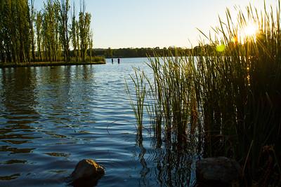 Sunset on Lake Ginninderra, Canberra