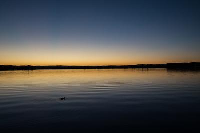 Sunrise on the Lake, Canberra