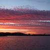 Sunrise over the lake, Canberra