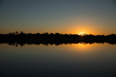 Sunset over Lake Ginninderra