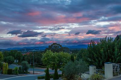 Sunset over Brindabella Mountains