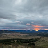 Sunset over the Brindabella mountains