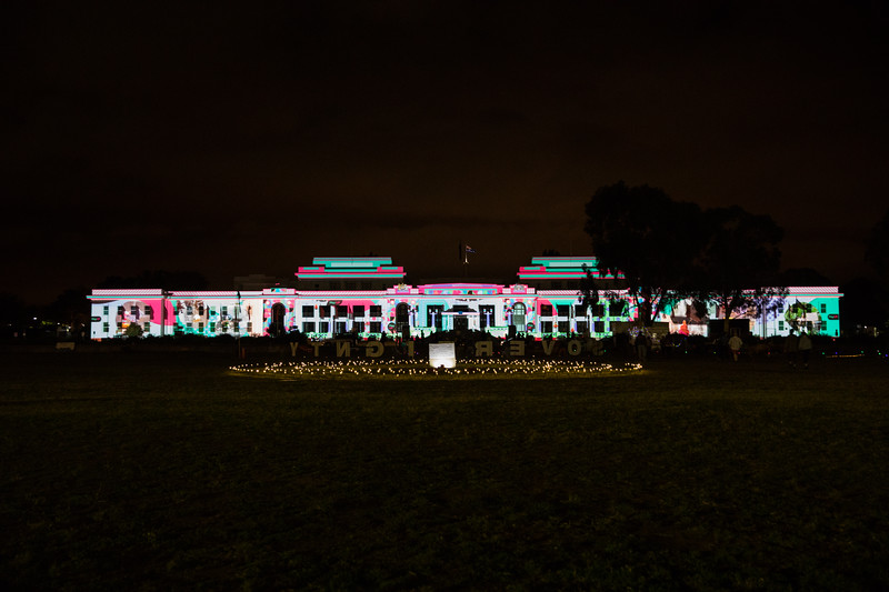 Old Parliament House, Enlighten Festival, Canberra