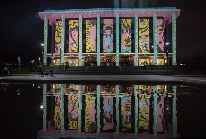 National Library, Enlighten Festival, Canberra