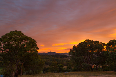 Telstra Tower at sunset, Canberra